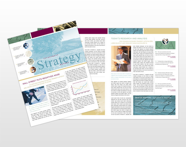 financial-services-advice-newsletter-template